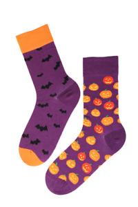 Halloween Pumpkin Socks (1 Pair) Mix-Match Pumpkin and Bat