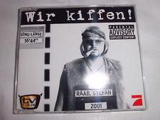 STEFAN RAAB Wir kiffen! TV Total Pop Maxi CD 2 Tracks NEUWERTIG!!!