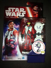 """Star Wars The Force Awakens Poe Dameron Collectable Figure 3.75"""" Tall Brand New"""