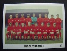 THE SUN FOOTBALL SWAP CARD 1970 / 71 Mint Condition.  No 33 Middlesbrough