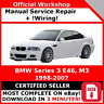 # FACTORY WORKSHOP SERVICE REPAIR MANUAL BMW SERIES 3 E46 1998 - 2007