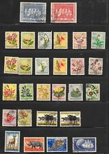 BELGIAN CONGO PAGE OF 28 SOUND STAMPS MINT HINGED & USED.