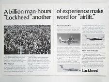 5/1980 PUB LOCKHEED C-141 C-5 GALAXY C-130 HERCULES MILITARY AIRLIFT ORIGINAL AD
