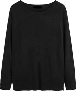 NEXT WOMENS BLACK COSY SOFT KNITTED CREW NECK JUMPER SWEATER 6/22 ONLY £12.99