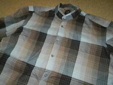 Vintage HUGO BOSS Light Cotton Plaid Checked Double Cuff Grandad Shirt
