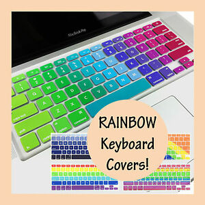 Rainbow Keyboard Silicone Cover Protector for Apple Macbook Air Pro 13 15 Retina