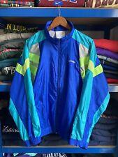 Vintage 90's Adidas Original Shell Suit Track Jacket Blue D5 Medium