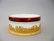COUPE Porcelaine Laiton et Bronze doré style Empire