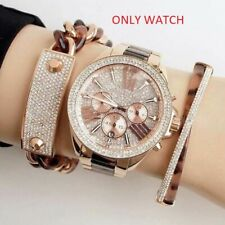 NEW GENUINE MICHAEL KORS MK6096 WREN CRYSTAL ROSE GOLD LADIES WATCH UK RRP 299£