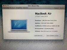 """Apple MacBook Air 13.3"""" Laptop , 128GB - 4GB (Juni, 2010 Silber) MAC OS X Lion"""