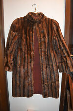 Mink fur coat for crafts or projects, flawed medium size/ not sure of kind fur