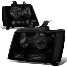 FOR 07-14 CHEVY TAHOE SUBURBAN TINTED HOUSING CLEAR SIDE HEADLIGHT 10 11 12 13