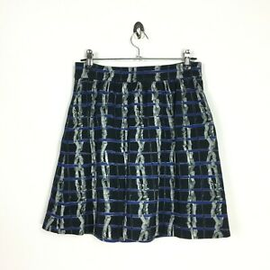 Other Stories Mini Skirt UK10 EU36 US6 A Line Black Check Twig Print Short Quirk