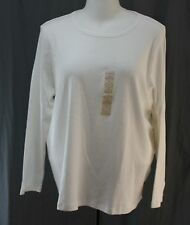 St. John��s Bay, 3X, White Crew Neck Top, New with Tags