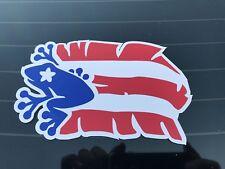 Puerto Rico / Coqui Flag Sticker( Puerto Rico con Coqui Y Mata De Plátano)