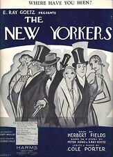 """Cole Porter """"THE NEW YORKERS"""" Jimmy Durante / Ann Pennington 1930 Sheet Music"""