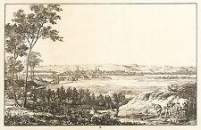 DRESDEN - ALBERTSTADT - Königsbrücker Straße - Ludwig Richter - Radierung 1820