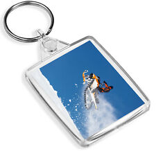 Snow Mobile Jump Keyring Stunt Snowmobile Sports Ski Winter Sport Gift #15988