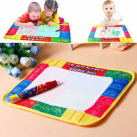 Kids Baby Magic Drawing Water Pen Painting Doodle Aquadoodle Mat Board Gift Toy