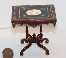 Dollhouse Miniature Victorian Hand Painted Portia Table in Mahogany
