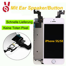 Für iPhone 5S LCD Front Glas Display Touch screen VORMONTIERT Homebutton Weiß