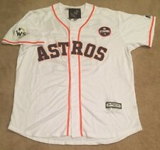 Jose Altuve Houston Astros 2017 World Series Jersey Mens XL NWT w Strong Patch