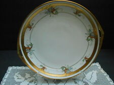 Antique Pickard  Hand Painted Cake Plate Pierced Handles Flowers 1895-1898