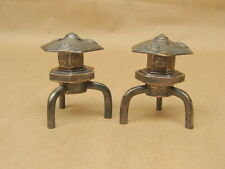 Vintage Japanese Sterling Silver Pagoda Lanterns Figural Salt and Pepper Shakers