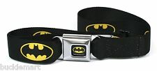 Official DC Comics BATMAN Seatbelt Seat Belt Buckle BuckleDown BLACK YELLOW