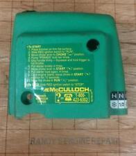 McCulloch 224236 mc-9038-330302 GREEN Air Filter Cover