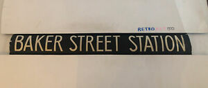 "Baker Street Station - London Bus Route Destination Blind Oct14 1982 42"""