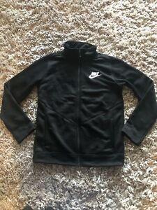 Nike Black Jacket Size Childrens Large (age 14 Years) (mj)