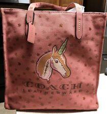 Coach New York Unicorn Tote Bag Melon Multi Travel Purse Limited Edition $150