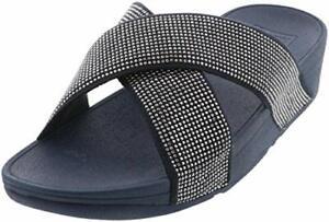 FitFlop Women's Ritzy Slide Sandals, Midnight Navy, Size 8.0