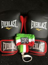Everlast Pro Boxing Gloves + Leone Hand wraps