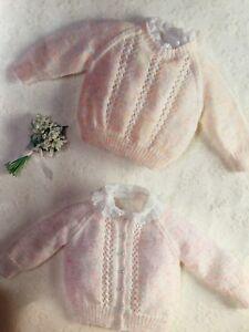 Girls Pattern Sweater And Cardigan Knitting Pattern