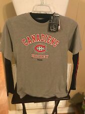 Reebok Montreal Canadiens Hockey NHL Shirts 2 Large 14/16 Boys New