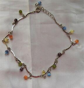 Multi Color Glass Beads on Silver Bracelet #jewelry #fashion #bracelet