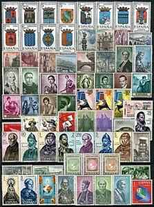ESPAÑA 1965-1970.  6 AÑOS COMPLETOS. Nuevos**. Edifil 1631/2007.