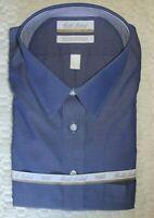 Roundtree Yorke Dress Shirt * Denim Blue 18.5 - 38/39 TALL Man NWT