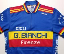 Vintage G. Bianchi Firenze SMS Santini Made in Italy Men's XXL Cycling Jersey