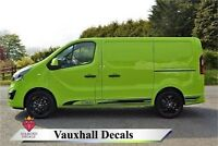 Vauxhall Vivaro Special Edition Side Stripes Vinyl Decals ANY COLOUR
