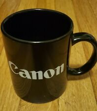 Vintage Canon Ceramic Mug Black White 1980's Design Type Modernist Cameras