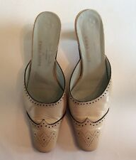 Emma Hope Paul Smith Women's Shoe Beige Italian Leather Mule 6 36.5