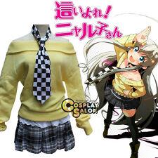 Anime Cosplay Haiyoru! Yellow Nyaruani Nyaruko Costume Halloween Dress