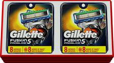16 Gillette Fusion 5 Proglide  cartridges  Razor Blades 2 x 8=16 cartridges