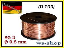 Schutzgas MIG MAG Schweissdraht SG2 0,8 mm auf D 100 1kg CO2 G3Si1