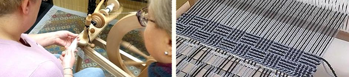 FibreHut spinning and weaving shop
