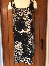 Topshop Tunic Style Dress In Black And Beige Size 10