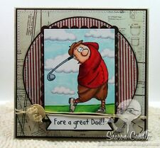 Jimmy Golfer (U get photo #2 no words)L@@Kexamples Art Impressions Rubber Stamps